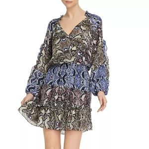 Parker Gladis Snakeskin-Printed Silk Dress